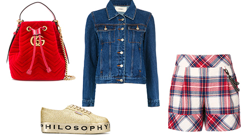 Perfect For Mid-Season: Tartan & Denim
